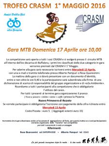 Volantino GARA MTB 1 maggio